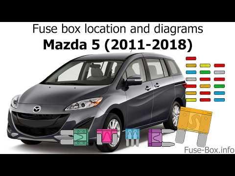 Fuse box location and diagrams: Mazda )