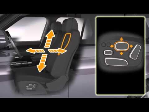 Range Rover 13 модельного года: передние сиденья с регулировками и функцией запоминания настроек