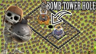 "getlinkyoutube.com-Clash of Clans ""BOMB TOWER HOLE TROLL BASE"" Insane Trolling Unstoppable"