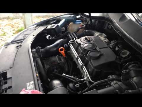 Замена свечей накаливания на VW Passat B6.