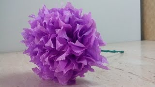 getlinkyoutube.com-DIY Цветок из гофрированной бумаги.Flower corrugated paper.Tsvetok iz gofrirovannaya bumaga