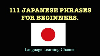 getlinkyoutube.com-111 Japanese Phrases for Beginners.