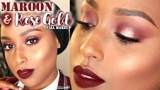 getlinkyoutube.com-MAROON X ROSE GOLD FALL MAKEUP | Aysha Abdul