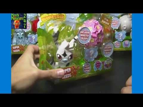 Opening Moshi Monsters Super Seeds Pack with Katsuma and Cherry Blossom