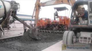 Thi công mặt đường bê tông xi măng bằng máy rải chuyên dụng(constr of cement concrete pavement)