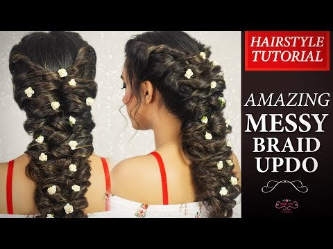 Download Thumbnail For Amazing Messy Braid Updo Hair Tutorial