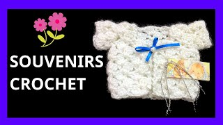 getlinkyoutube.com-Souvenirs Modelo Saco para nacimiento bebe en tejido crochet tutorial paso a paso.