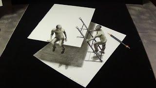 getlinkyoutube.com-Figures & Ladder, Drawing Trick Art on Paper