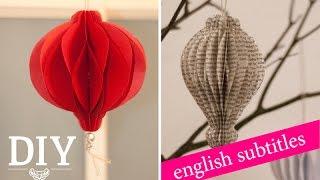 getlinkyoutube.com-Weihnachtsdeko basteln - Weihnachtskugeln aus Papier Tutorial / Christmas Ornaments | Deko Kitchen