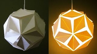 getlinkyoutube.com-DIY pendant lamp/lantern (5 petals) - home and room decor - EzyCraft