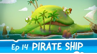 getlinkyoutube.com-Om Nom Stories: Pirate Ship (Episode 14, Cut the Rope: Time Travel)