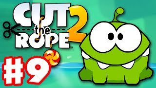 getlinkyoutube.com-Cut the Rope 2 - Gameplay Walkthrough Part 9 - Underground! 3 Stars! (iOS, Android)