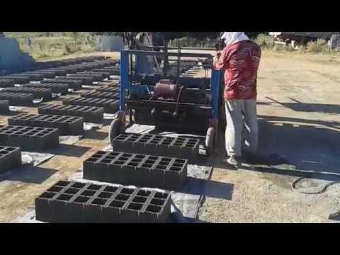 Máquina de fazer bloco de cimento, poedeira