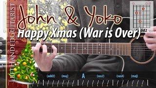 getlinkyoutube.com-John Lennon - Happy Xmas (War is Over) guitar lesson