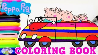 getlinkyoutube.com-Peppa Pig Coloring Book Peppa George Mummy Daddy Pig Episode Surprise Egg and Toy Collector SETC