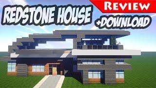getlinkyoutube.com-Minecraft: Modern Redstone House Review + DOWNLOAD / Smart House / 1.8 / secret bases /