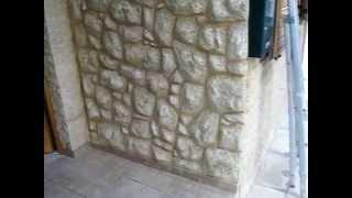 getlinkyoutube.com-Πρόσοψη Τεχνοτροπία τοιχου, χαραχτό επίχρισμα πέτρα    4