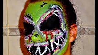 getlinkyoutube.com-Halloween Series 2016: Oogie Boogie Man Inspired Makeup Tutorial