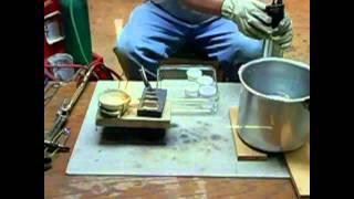 getlinkyoutube.com-Silver Refining Hand Pouring 999 fine silver 5 Troy ounce Ba