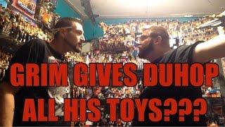 getlinkyoutube.com-Duhop & Grim's Ultimate toy room : WWE Mattel wrestling figure collection given away!