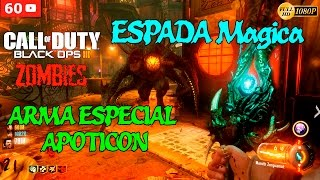 getlinkyoutube.com-Black Ops 3 Zombies Gameplay Español - Shadows of Evil - Espada Magica + Arma Especial Apoticon