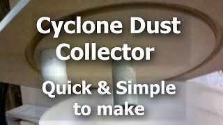 getlinkyoutube.com-Cyclone dust shavings collector quick & simple, without Thien baffle