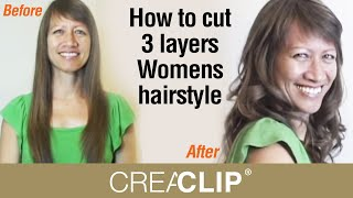 getlinkyoutube.com-How to cut 3 layers Womens hairstyle- Lots of Layering and volume