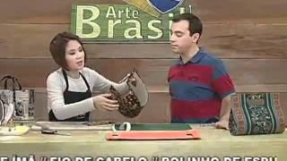 getlinkyoutube.com-ARTE BRASIL - CLAUDIA WADA - BOLSA GABRIELA EM CARTONAGEM (10/08/2011)