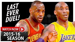 getlinkyoutube.com-LeBron James vs Kobe Bryant LAST Duel Highlights (2016.03.10) Lakers vs Cavaliers - LEGENDARY!