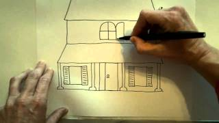getlinkyoutube.com-How to draw a Haunted House