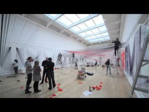 Behind the scenes installing Pae White's work at the South London Gallery