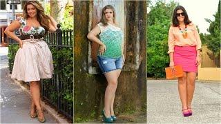 getlinkyoutube.com-Outfits con Short 2015 | Outfits con Falda para Gorditas