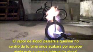 Video preparo e funcionamento da Turbina draga AR