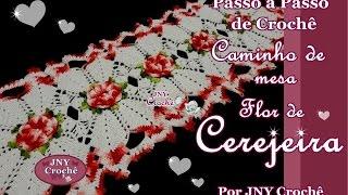 getlinkyoutube.com-Passo a Passo de Crochê Caminho de mesa Flor de Cerejeira por JNY Crochê