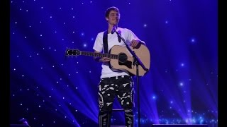"getlinkyoutube.com-Justin Bieber - ""Cold Water"" acoustic @ The Ellen Show. (December 2016)"