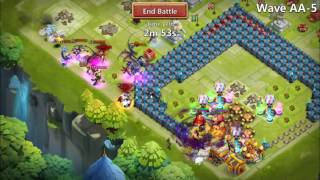 getlinkyoutube.com-Castle Clash: HBM AA and AB with NO Scatter!