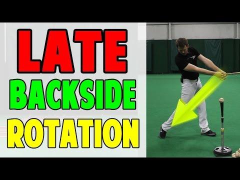 Late Backside Rotation | Baseball Hitting Drill (Pro Speed Baseball)
