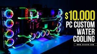Timelapse   Gaming PC Thermaltake Core P7 giá 230 triệu với tản nước Custom   i9 7900x - SLI 1080Ti