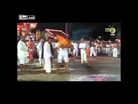 Phuket Vegetarian Festival - firewalking went wrong
