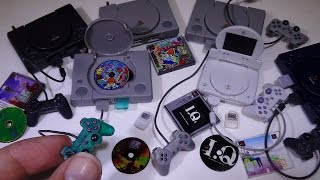 getlinkyoutube.com-PlayStation History Collection 1 - Takara Tomy 1/6 scale gashapon video game systems!