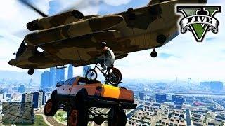 getlinkyoutube.com-GTA 5 Making Stunt Movie!!! - STUNTs & JUMPs GTA 5 -  Hanging With the Crew Grand Theft Auto 5