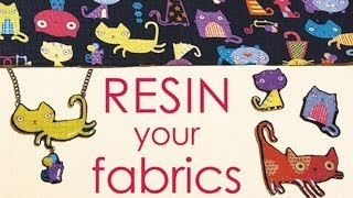 getlinkyoutube.com-How To Resin Your Fabric Scraps - Make Jewelry, Buttons, Pins,...  by Little Windows
