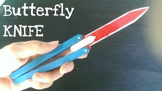 getlinkyoutube.com-How to make a Butterfly Knife (Balisong)  using popsicle sticks | Look real