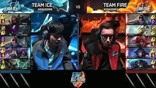 getlinkyoutube.com-BJERGSEN and FAKER - Assassins Mode All Star 2016 - Team Ice vs Team Fire