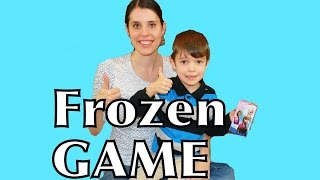 getlinkyoutube.com-Disney Frozen GAME Matching Princess Memory Game with Frozen Toby AllToyCollector