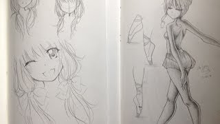 getlinkyoutube.com-Manga/Anime Sketchbooks & Drawings 2014