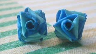 getlinkyoutube.com-double colour quilling paper rose studs.....