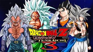 Dragon Ball Z Budokai Tenkaichi 3 MODS | SSJ5 Goku & Vegeta VS SSJ5 Gogeta & Vegito (Duels)