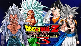getlinkyoutube.com-Dragon Ball Z Budokai Tenkaichi 3 MODS | SSJ5 Goku & Vegeta VS SSJ5 Gogeta & Vegito (Duels)