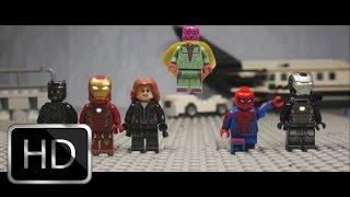 getlinkyoutube.com-Captain America: Civil War Airport Scene in Lego